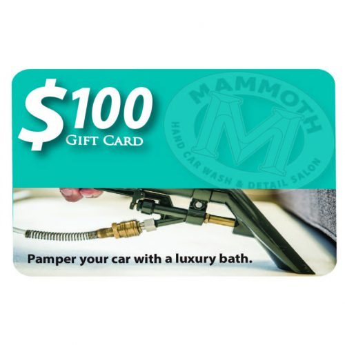 Mammoth Detail $100 Gift Card