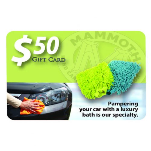 Mammoth Detail $50 gift card