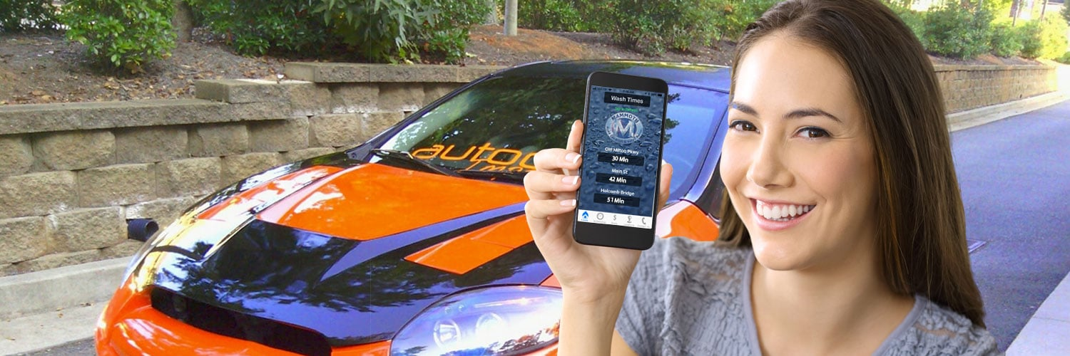 Download our convenient iPhone or Android car wash app