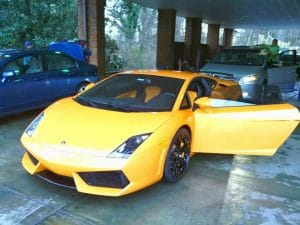 Lamborghini in Yellow