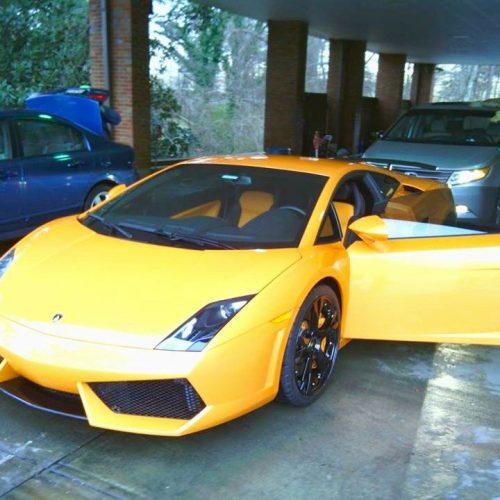 Lamborghini in Yellow